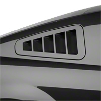 SHR Flush-Mount Quarter Window Louvers - Unpainted (10-14 All) - SilverHorse Racing S297-300