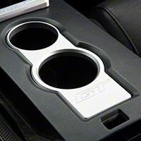 SHR Satin Cup Holder Bezel - GT Logo (05-09 All) - SHR S197-500-S-GT
