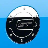 SHR Chrome Fuel Door - GT Logo (10-14 All) - SilverHorse Racing S297-5001-C-GT