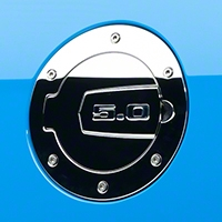 SHR Chrome Fuel Door - 5.0 Logo (10-14 All) - SilverHorse Racing S297-5001-C-50