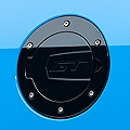 SHR Black Fuel Door - GT Logo (10-14 All) - SilverHorse Racing S297-5001-B-GT