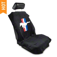 Seat Armour Protective Cover - Black - Pony (79-14 All) - AM Interior SA100PONYB