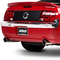 Retro USA Chrome Rear Bumper Trim (05-09 GT, V6) - Retro USA MT1RB-A