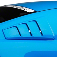 Roush Quarter Window Louvers - Unpainted (10-14 All) - Roush Performance 420093