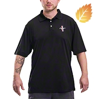 Mustang Tri-Bar Performance Polo Shirt - Black - AM Accessories MST-BLK