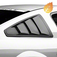 MMD Quarter Window Louvers - Matte Black (05-14 All) - MMD 71303-99