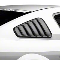 MMD Classic Quarter Window Louvers - Matte Black (05-09 All) - MMD 71315-99