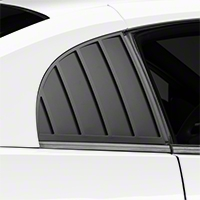 MMD Quarter Window Louvers - Matte Black (99-04 GT, V6, Cobra Coupe) - MMD 71320-99