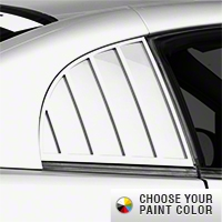 MMD Quarter Window Louvers - Pre-painted (99-04 GT, V6, Cobra Coupe) - MMD 71320