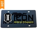 Front License Plate - Black Pony on Black (79-14 All) - AM Exterior 3520-7