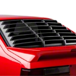 MMD Rear Window Louvers - Textured ABS - Hatchback (79-93 All) - MMD 1004