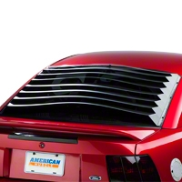 Rear Window Louvers - Smooth Aluminum (94-04 All) - AM Exterior 10611