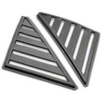 Hatchback Quarter Window Louvers - Unpainted (79-86 All) - AM Exterior 10004