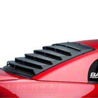 Mach Speed Rear Window Louvers - Textured ABS (94-04 All) - Mach Speed 22012
