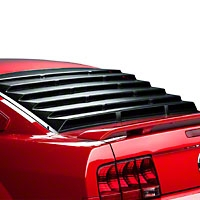 Mach Speed Rear Window Louvers - Textured ABS (05-13 All) - Mach Speed 22013