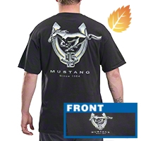 Mustang 45th Anniversary Black T-Shirt - Men - AM Accessories FMM45-B