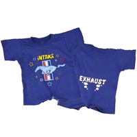 Running Pony Intake & Exhaust Blue Romper - AM Accessories FMMIE-U-ROM