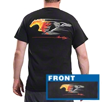 Flaming Pony T-Shirt - Mens - AM Accessories FMTRP