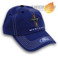 Tri-Bar Pony Hat - Blue - AM Accessories 66343