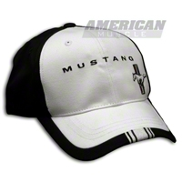 Tri-Bar Pony Hat - Black and White - Checkered Flag Sports 75125