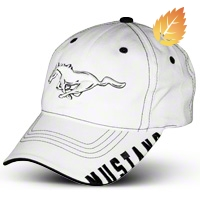 Running Pony Hat - White - AM Accessories 84799
