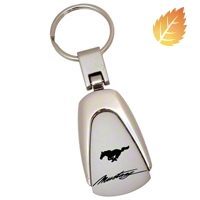 Teardrop Style Key Chain - Mustang Script - AM Accessories 1033270
