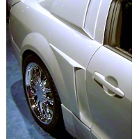 Xenon Side Scoops - Unpainted (05-09 All) - AM Exterior 12127||12128