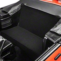 Rear Seat Delete Kit - Convertible - Black (83-93 All) - AM Interior BLACKVERT