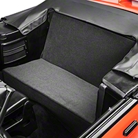 Rear Seat Delete Kit - Convertible - Gray (83-93 All)