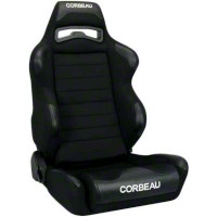 Corbeau LG1 Racing Seat - Wide - Black - Pair (79-14 All) - Corbeau 25501w||kit