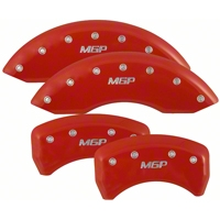 MGP Red Caliper Covers - Front & Rear (05-10 GT, V6) - MGP S197-S-MGP-RD