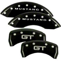 MGP Black Caliper Covers w/ GT Logo - Front & Rear (05-10 GT, V6) - MGP 10197-S-MGT-BK