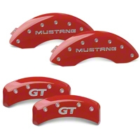MGP Red Caliper Covers w/ GT Logo - Front & Rear (99-04 GT, V6) - MGP 10095SMG1RD