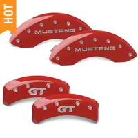 MGP Red Caliper Covers w/ GT Logo - Front & Rear (99-04 GT, V6) - MGP 10095-S-MGT-RD