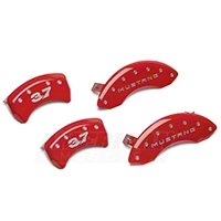 MGP Red Caliper Covers w/ 3.7 Logo - Front & Rear (11-14 V6) - MGP 10198SM37RD
