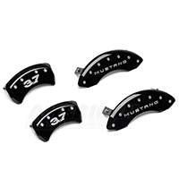 MGP Black Caliper Covers w/ 3.7 Logo - Front & Rear (11-14 V6) - MGP 10198-S-M37-BK