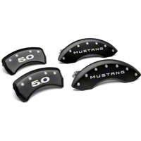 MGP Matte Black Caliper Covers w/ 5.0 Logo - Front & Rear (11-14 GT, V6) - MGP 10198-S-5.0-SM