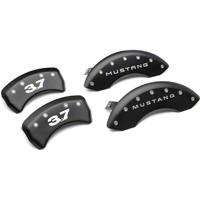 MGP Matte Black Caliper Covers w/ 3.7 Logo - Front & Rear (11-14 V6) - MGP 10198-S-M37-SM
