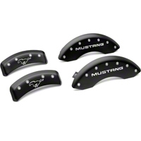 MGP Matte Black Caliper Covers w/ Pony Logo - Front & Rear (99-04 GT, V6) - MGP 10095-S-MPY-SM