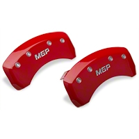 MGP Red Caliper Covers - Rear (94-98 GT, V6) - MGP 10224-R-MGP-RD
