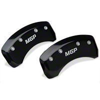 MGP Black Caliper Covers - Rear (94-98 GT, V6) - MGP 10224-R-MGP-BL