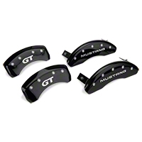 MGP Black Caliper Covers w/ GT Logo - Front & Rear (94-98 GT, V6) - MGP 10224-S-MGT-BK