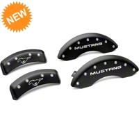 MGP Matte Black Caliper Covers w/ Pony Logo - Front & Rear (94-98 GT, V6) - MGP 10224-S-MPY-SM