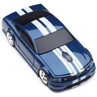 Road Mice 2005 Mustang GT Wireless Computer Mouse (Blue/White) - Road Mice RM-08FDMGBXW