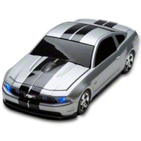 Road Mice 2011 Mustang GT Wireless Computer Mouse (Silver/Black) - AM Accessories RM-08FDMGSXK