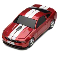 Road Mice 2011 Mustang GT Wireless Computer Mouse (Red/White) - AM Accessories RM-08FDMGRXW