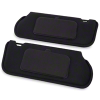 TMI Cloth Sun Visors w/ Mirrors- Coupe/Hatchback - Black (85-93 All) - TMI 21-73005-1559