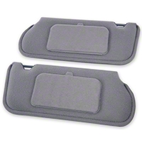 TMI Cloth Sun Visors w/ Mirrors- Coupe/Hatchback - Smoke Gray (85-93 All) - TMI 21-73005-1853X