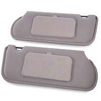 TMI Cloth Sun Visors w/ Mirrors- Coupe/Hatchback - Titanium Gray (85-93 All) - TMI 21-73005-1891