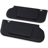 TMI Vinyl Sun Visors w/ Mirrors- T-Top/Sunroof - Black (85-93 All) - TMI 21-73006-770